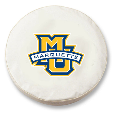 Marquette Golden Eagles HBS White Vinyl Fitted Car Tire Cover