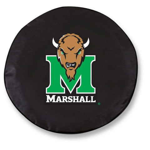Marshall Thundering Herd HBS Black Vinyl Fitted Car Tire Cover