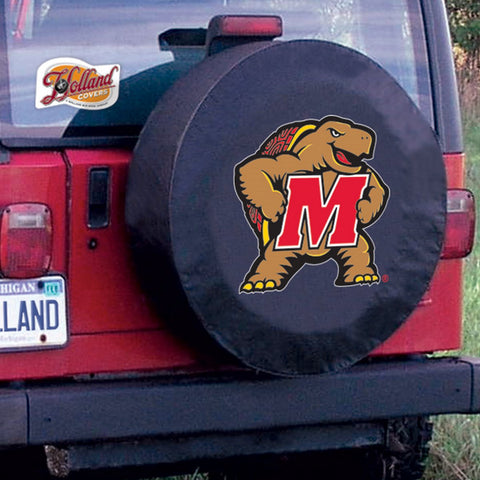 Maryland Terrapins HBS Black Vinyl Fitted Spare Car Tire Cover