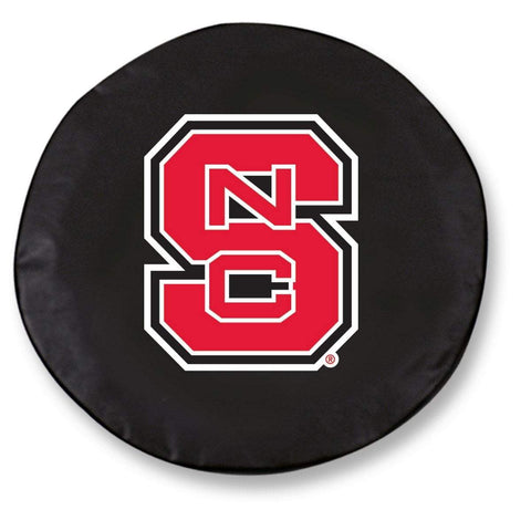 NC State Wolfpack HBS Black Vinyl Fitted Spare Car Tire Cover