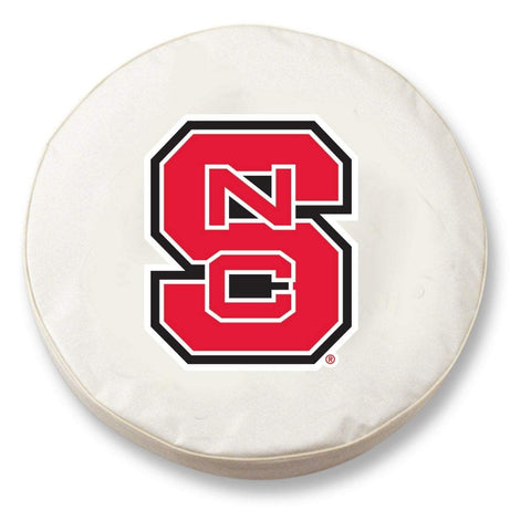 NC State Wolfpack HBS White Vinyl Fitted Spare Car Tire Cover