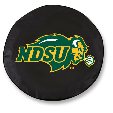 North Dakota State Bison HBS Black Vinyl Fitted Car Tire Cover