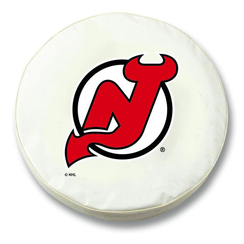 New Jersey Devils HBS White Vinyl Fitted Spare Car Tire Cover