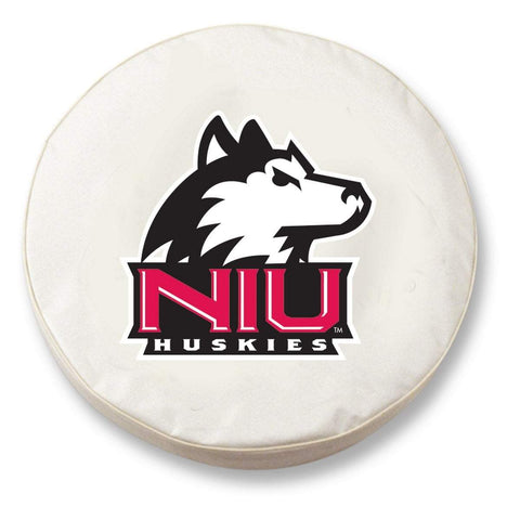 Northern Illinois Huskies HBS White Vinyl Fitted Car Tire Cover