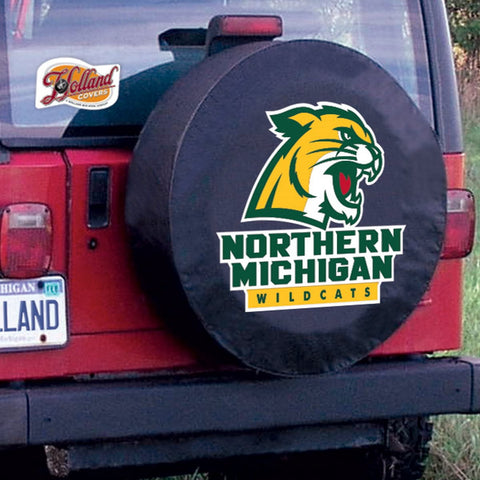 Northern Michigan Wildcats HBS Black Vinyl Fitted Car Tire Cover