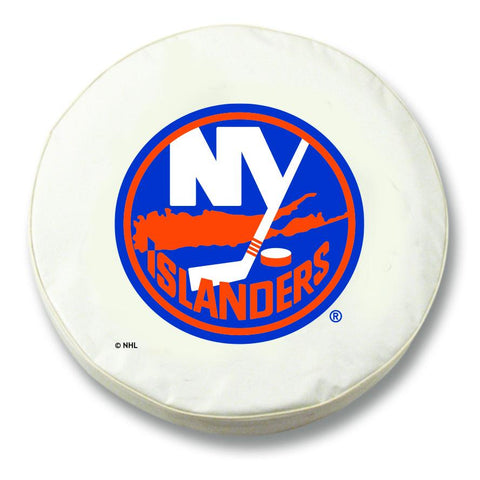 New York Islanders HBS White Vinyl Fitted Spare Car Tire Cover