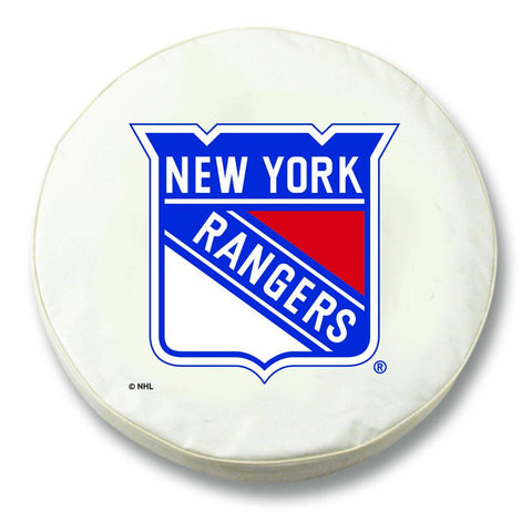 New York Rangers HBS White Vinyl Fitted Spare Car Tire Cover