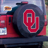 Oklahoma Sooners HBS Black Vinyl Fitted Spare Car Tire Cover
