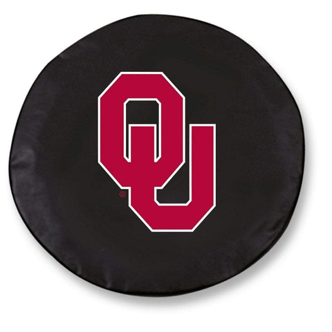 Shop Oklahoma Sooners HBS Black Vinyl Fitted Spare Car Tire Cover