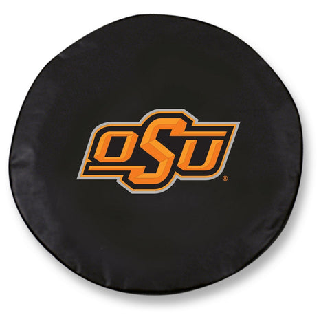 Oklahoma State Cowboys HBS Black Vinyl Fitted Car Tire Cover