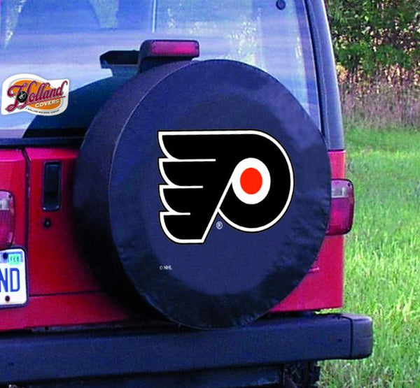 Dayton Flyers HBS Black Vinyl Fitted Spare Car Tire Cover