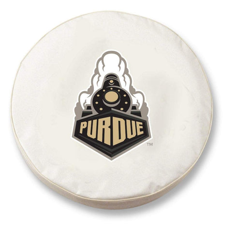 Purdue Boilermakers HBS White Vinyl Fitted Spare Car Tire Cover