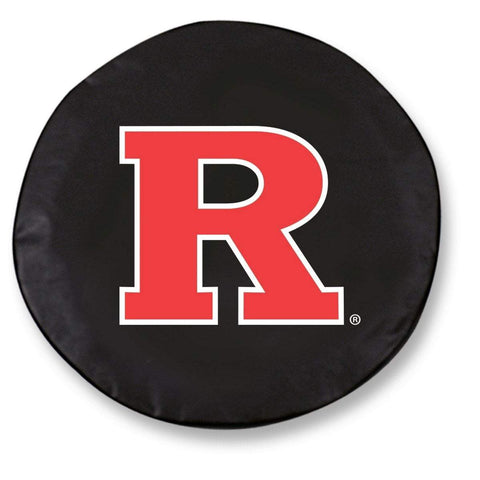 Rutgers Scarlet Knights HBS Black Vinyl Fitted Car Tire Cover