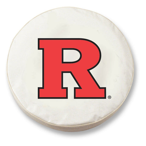 Rutgers Scarlet Knights HBS White Vinyl Fitted Car Tire Cover