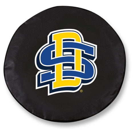 South Dakota State Jackrabbits Black Vinyl Fitted Car Tire Cover