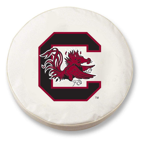 South Carolina Gamecocks HBS White Vinyl Fitted Car Tire Cover