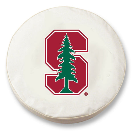 Stanford Cardinal HBS White Vinyl Fitted Spare Car Tire Cover