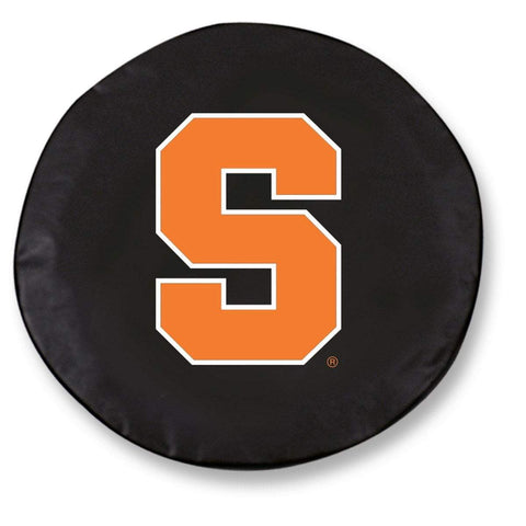 Syracuse Orange HBS Black Vinyl Fitted Spare Car Tire Cover