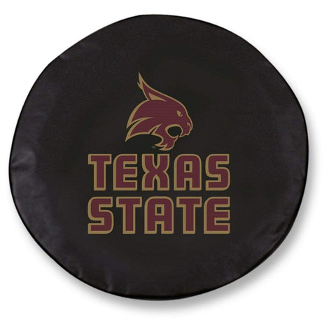 Texas State Bobcats HBS Black Vinyl Fitted Spare Car Tire Cover