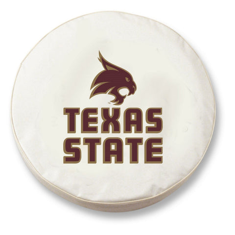 Texas State Bobcats HBS White Vinyl Fitted Spare Car Tire Cover