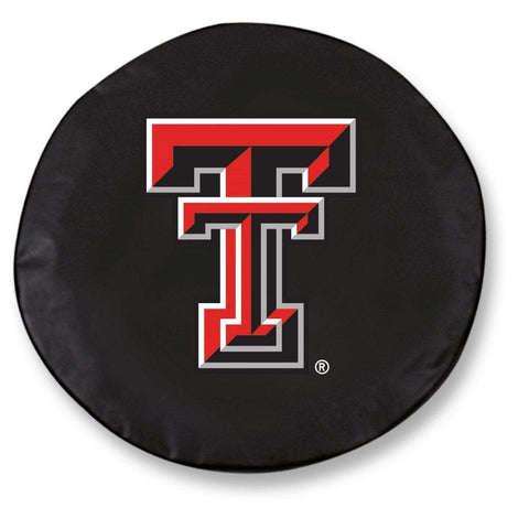 Texas Tech Red Raiders HBS Black Vinyl Fitted Car Tire Cover