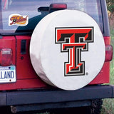 Texas Tech Red Raiders HBS White Vinyl Fitted Car Tire Cover - Sporting Up
