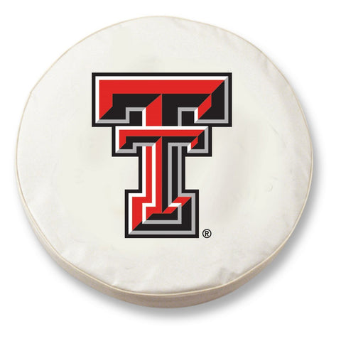 Shop Texas Tech Red Raiders HBS White Vinyl Fitted Car Tire Cover - Sporting Up