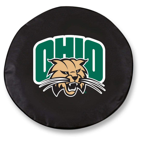 Ohio Bobcats HBS Black Vinyl Fitted Spare Car Tire Cover
