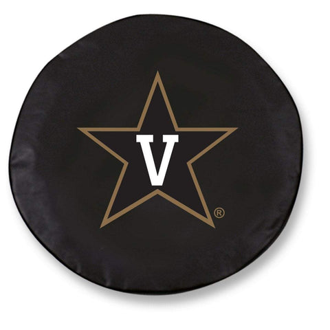 Vanderbilt Commodores HBS Black Vinyl Fitted Car Tire Cover