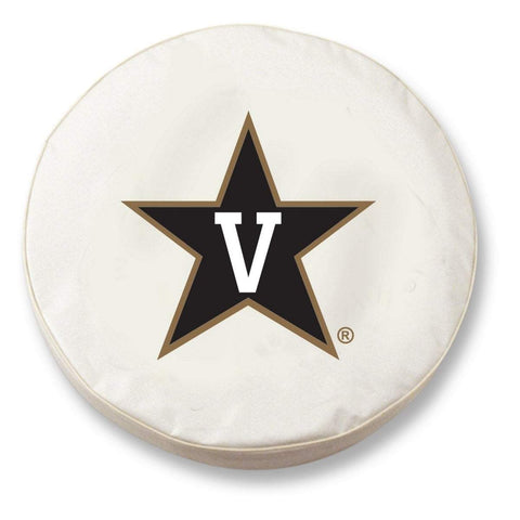 Vanderbilt Commodores HBS White Vinyl Fitted Car Tire Cover