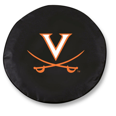 Shop Virginia Cavaliers HBS Black Vinyl Fitted Spare Car Tire Cover - Sporting Up