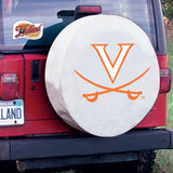 Virginia Cavaliers HBS White Vinyl Fitted Spare Car Tire Cover - Sporting Up