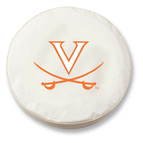 Shop Virginia Cavaliers HBS White Vinyl Fitted Spare Car Tire Cover - Sporting Up