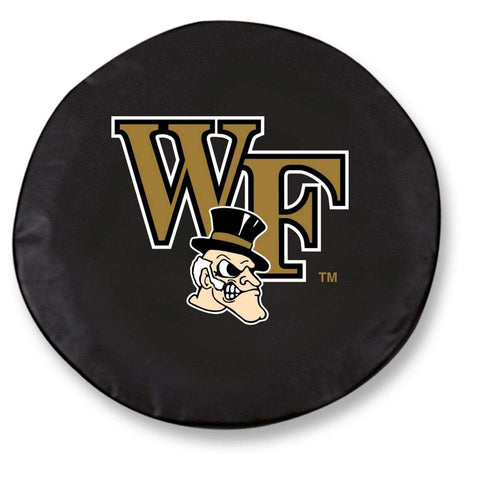 Wake Forest Demon Deacons HBS Black Vinyl Fitted Car Tire Cover