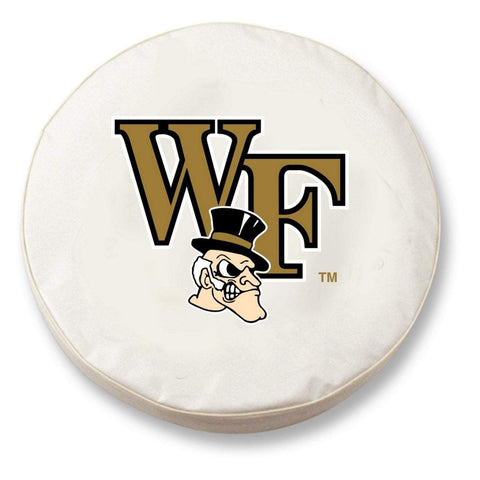 Wake Forest Demon Deacons HBS White Vinyl Fitted Car Tire Cover - Sporting Up