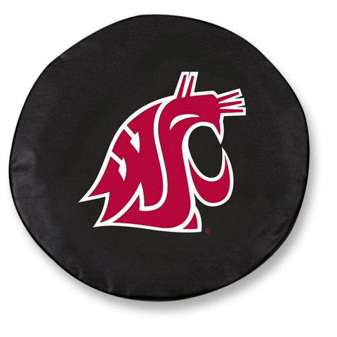 Washington State Cougars HBS Black Vinyl Fitted Car Tire Cover