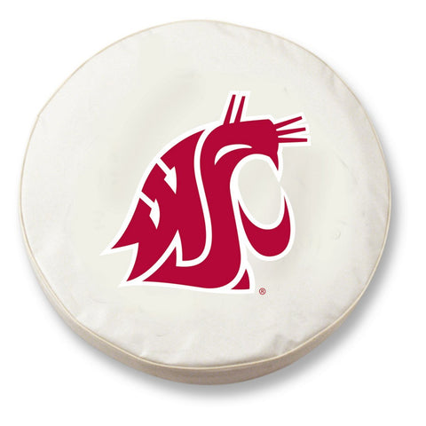 Washington State Cougars HBS White Vinyl Fitted Car Tire Cover