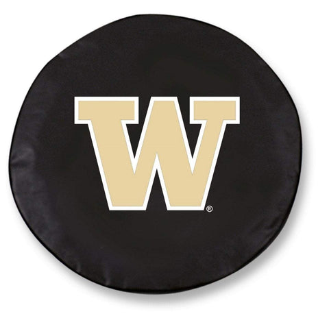 Washington Huskies HBS Black Vinyl Fitted Spare Car Tire Cover
