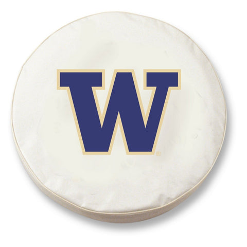Washington Huskies HBS White Vinyl Fitted Spare Car Tire Cover