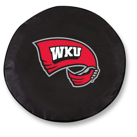 Western Kentucky Hilltoppers Black Vinyl Fitted Car Tire Cover