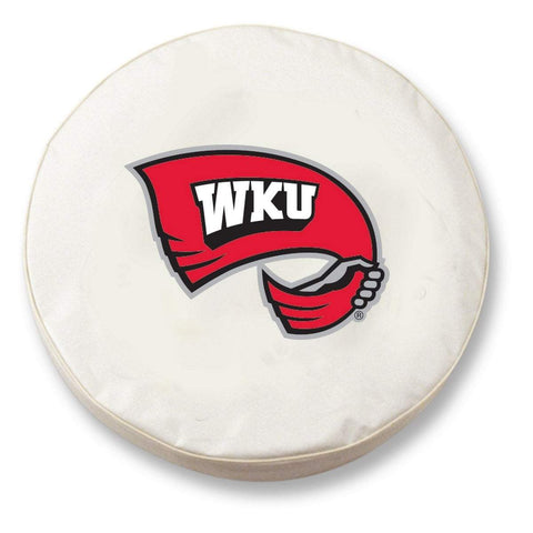 Western Kentucky Hilltoppers White Vinyl Fitted Car Tire Cover