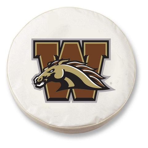 Western Michigan Broncos HBS White Vinyl Fitted Car Tire Cover