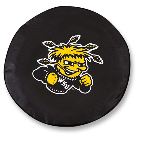 Wichita State Shockers HBS Black Vinyl Fitted Car Tire Cover