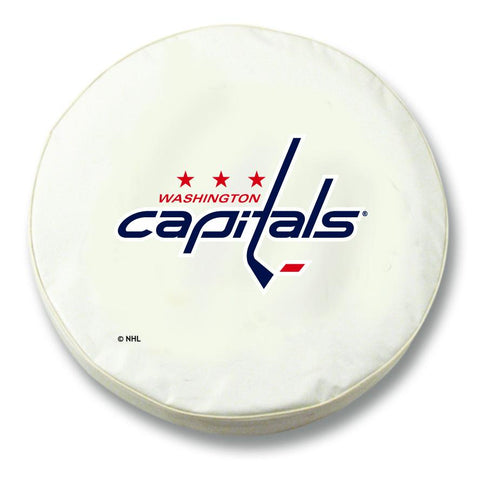 Washington Capitals HBS White Vinyl Fitted Spare Car Tire Cover