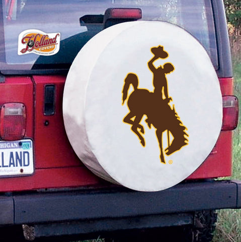 Wyoming Cowboys HBS White Vinyl Fitted Spare Car Tire Cover | |