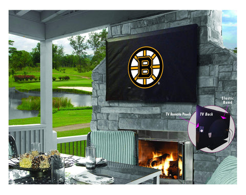 Boston Bruins HBS Breathable Water Resistant Vinyl TV Cover