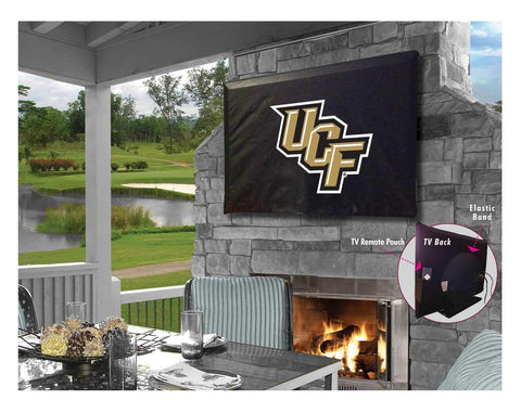 UCF Knights HBS Black Breathable Water Resistant Vinyl TV Cover