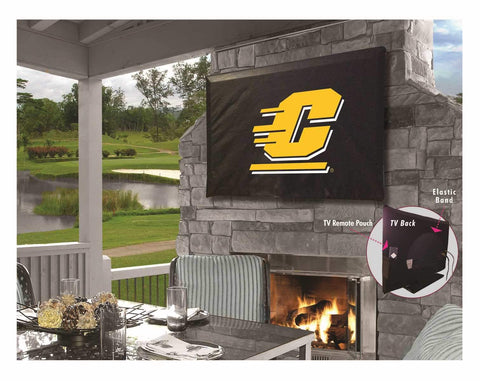 Central Michigan Chippewas Breathable Water Resistant Vinyl TV Cover - Sporting Up