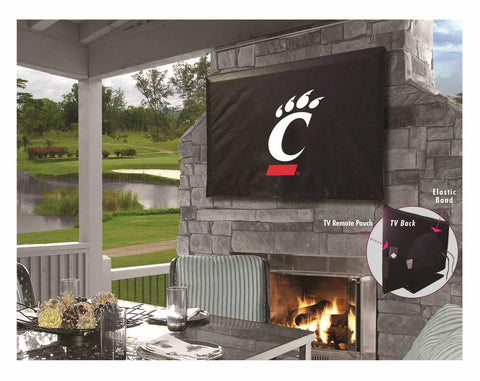 Cincinnati Bearcats Black Breathable Water Resistant Vinyl TV Cover