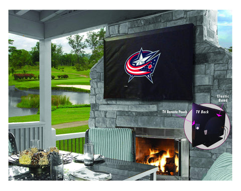 Columbus Blue Jackets HBS Breathable Water Resistant Vinyl TV Cover